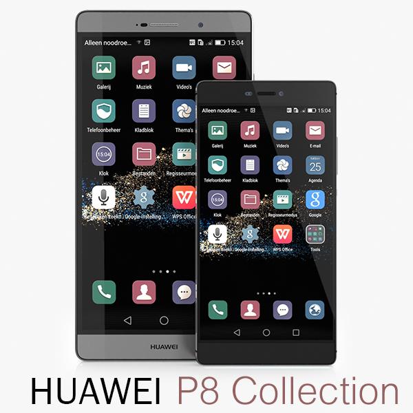 huawei p8 3d 3ds