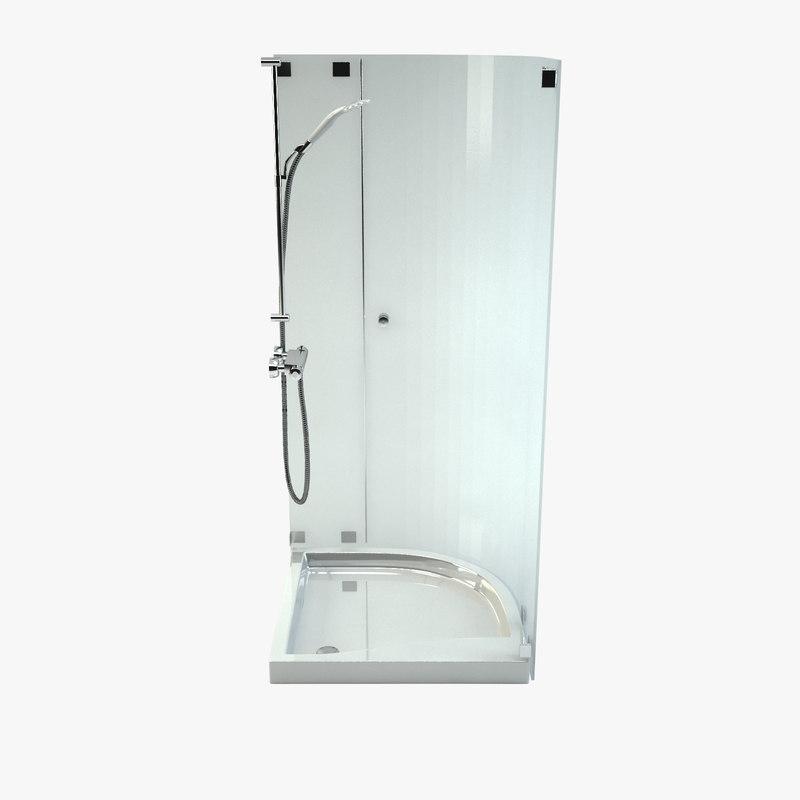 shower cab 3d max