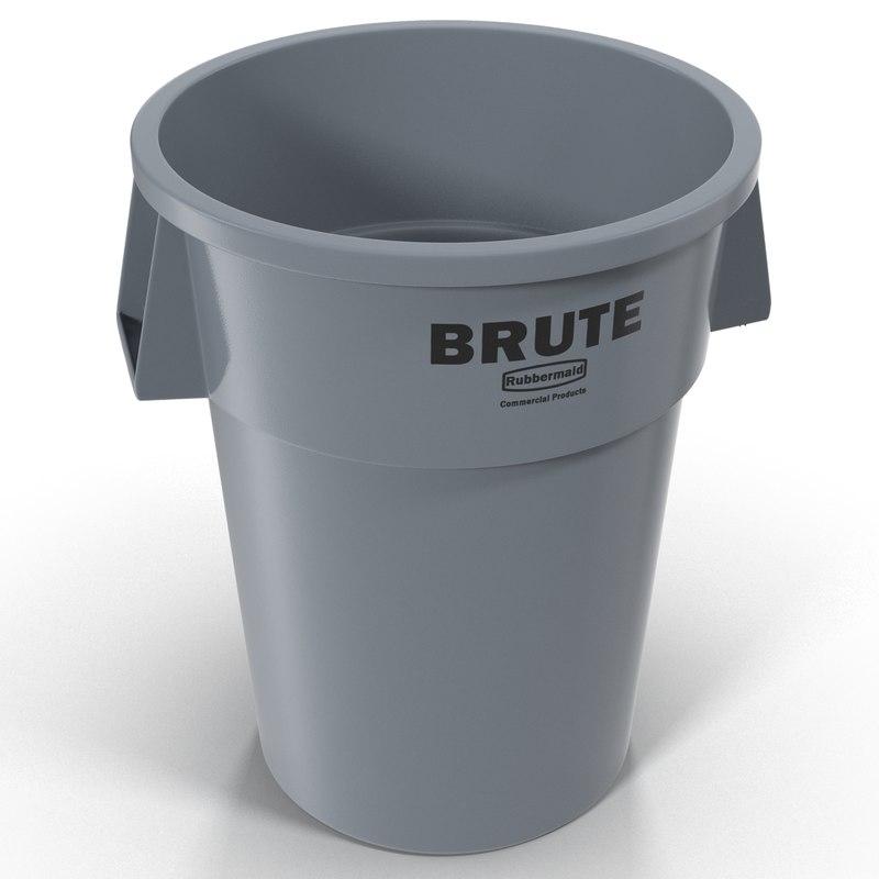 3d plastic garbage
