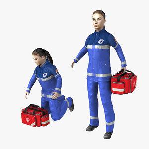 paramedic rigged obj