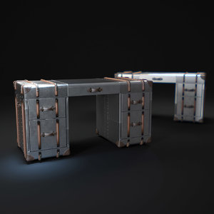 3d richards trunk-desk-metal