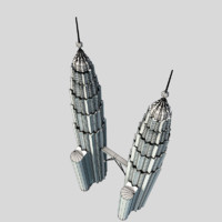 Twin Tower Low Polygon