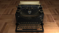 3ds old typewriter