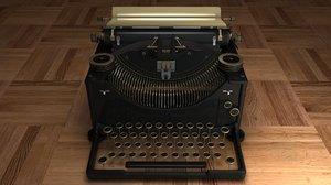 3ds old typewriter