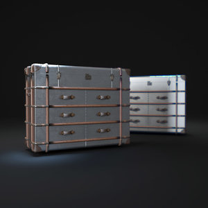richards -trunk-medium-chest-metal 3d max