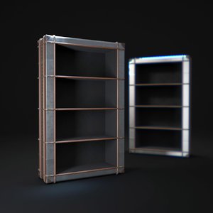 richards -trunk-single-shelving-metal 3d model