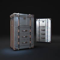 richards -trunk-small-chest-metal 3d max