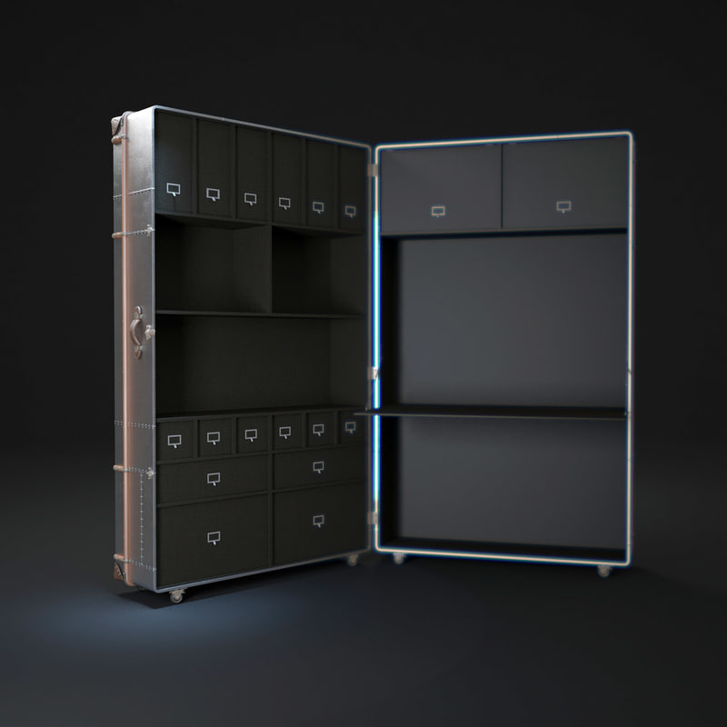 richards-trunk-secretary-metal 3d max