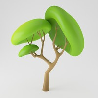 3d c4d toon tree