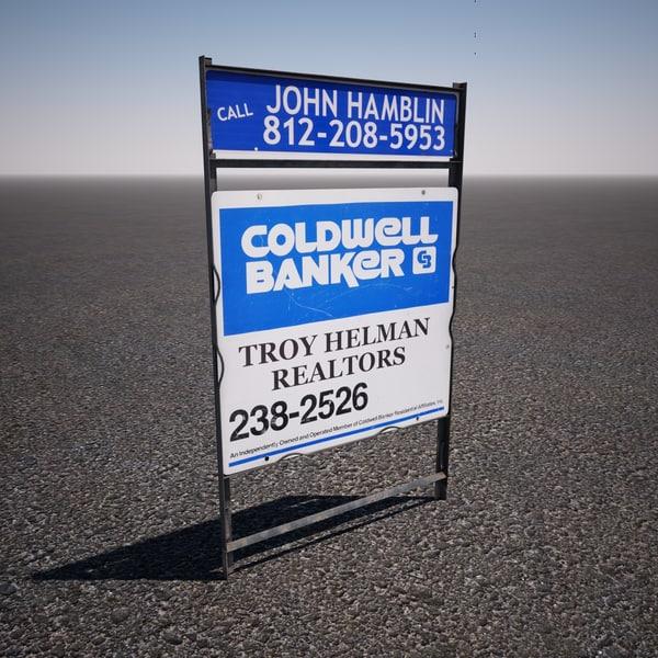 3ds real estate sign