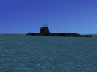 3d subs collins class submarines model