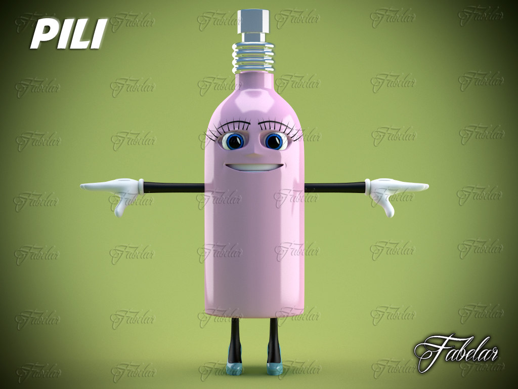 3d pili character