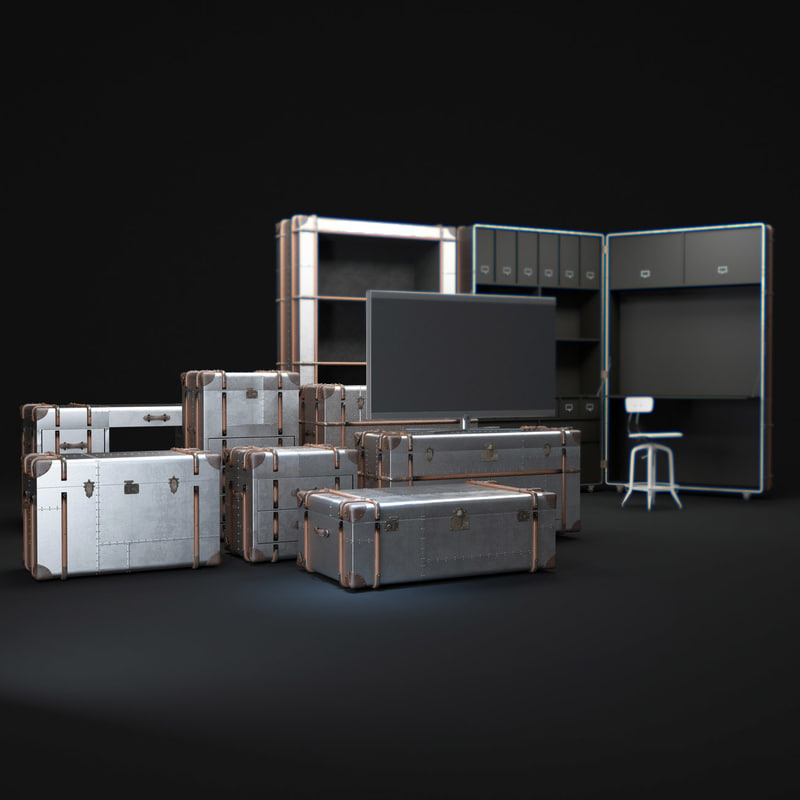 3d richards -trunk-metal-collection