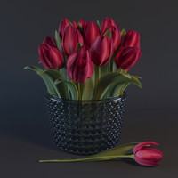tulips corona plant 3d max