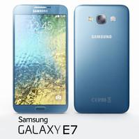 3dsmax samsung galaxy e7 blue