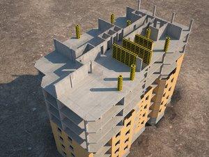 3d construction site model