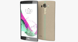 3d realistic lg g4 leather