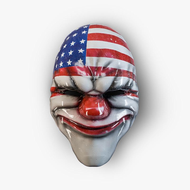 masks payday 3d max
