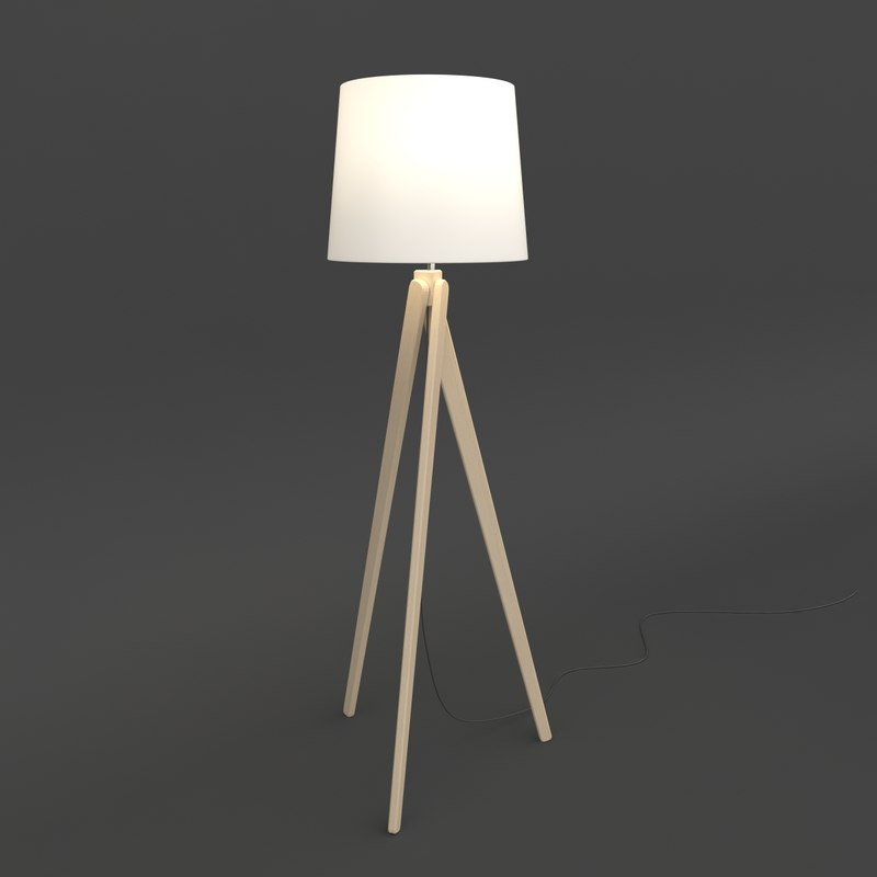 lamp standing zaria terra 3d model
