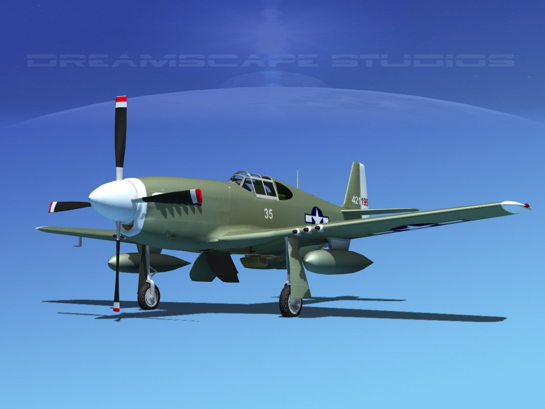 p-51b mustang p-51 north american 3ds
