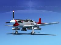 p-51b mustang p-51 north american 3d model
