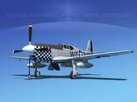 3d model p-51b mustang p-51 north american