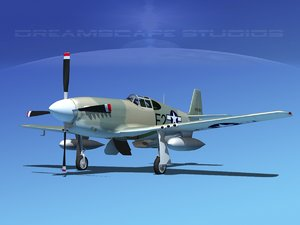 p-51b mustang p-51 north american 3d max