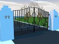 3d gate house model