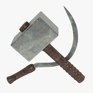 3d hammer sickle model