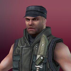 mercenary ready 3d model