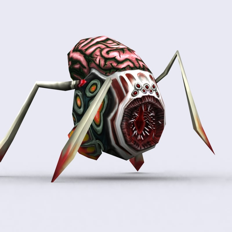 3d insectoid spider - model