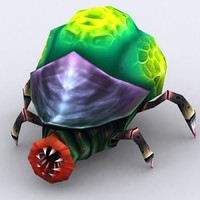 3d insectoid tick - model