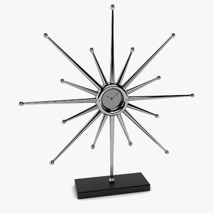 3d max star clock desk