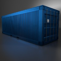 metal shipping crate 3d c4d
