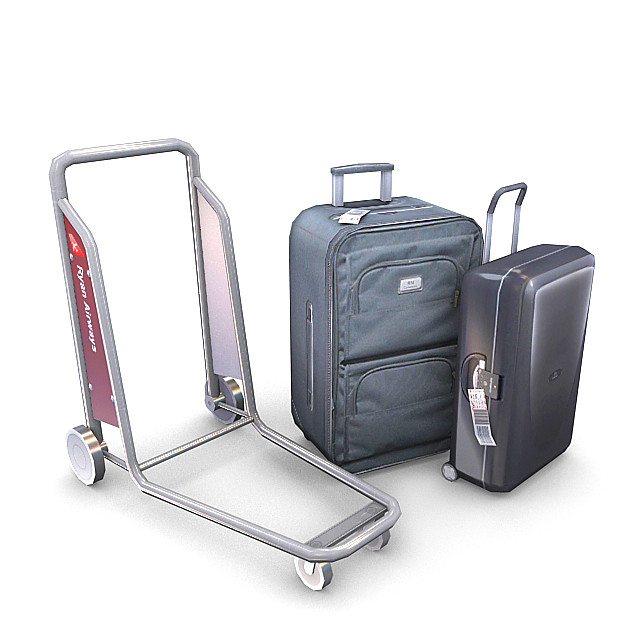 3d luggage pack
