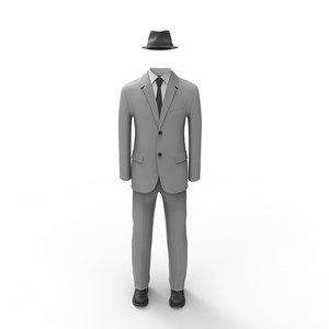3d max man suit