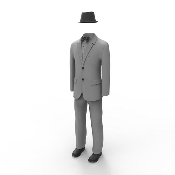 man suit 3d obj
