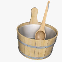 sauna bucket 3d model
