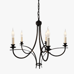 oil rubbed bronze chandelier 3d max