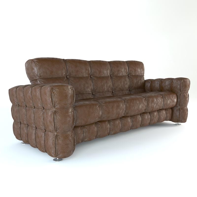 free sofa furniture 3d model