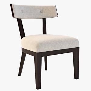 domicile crescent chair 3d model