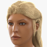 female mediterranean head modeled 3d model