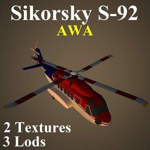 sikorsky awa 3d model