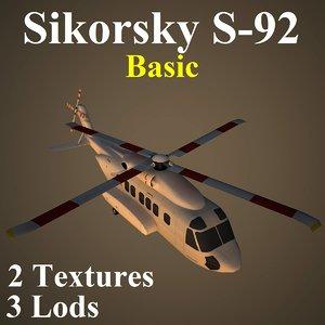 sikorsky basic 3d max