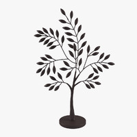 3d cyan design medium sapling model