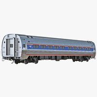 railroad amtrak passenger car interior 3d max