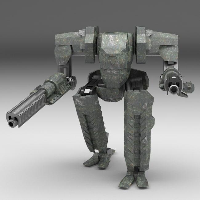 mech walking robot rigging max
