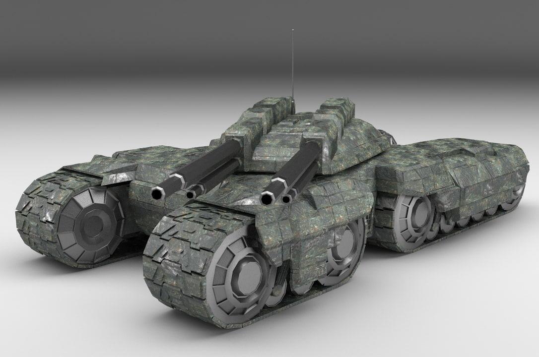 tank 3d 3ds