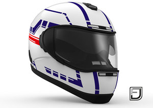 white helmet h06 3d model