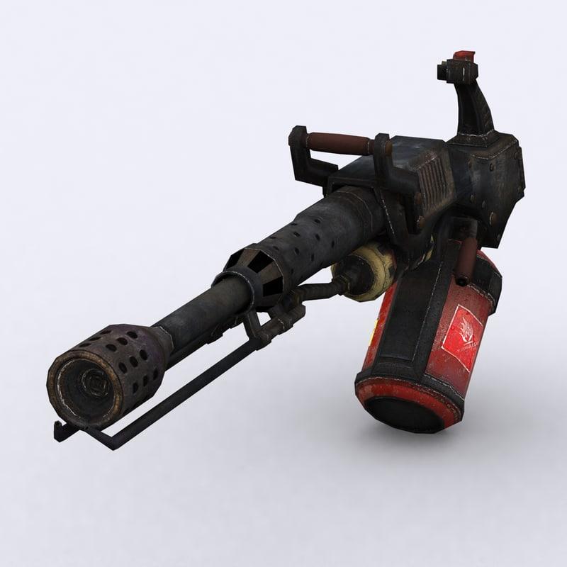 3d model - flamethrower